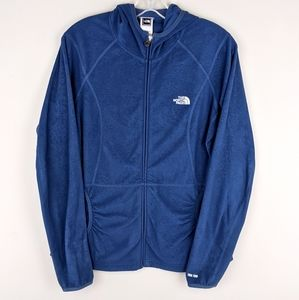The North Face | Textured Blue Zip Jacket